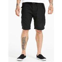 Jacamo Axel Black Cargo Shorts