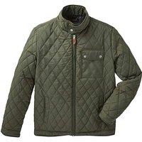 Jacamo Khaki Beattie Quilted Jacket Reg