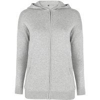 Light Grey Marl Hooded Sportive Cardigan
