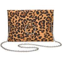 Sophie Leopard Ring Detail Clutch Bag