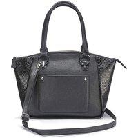 Black Emily Winged Tote Bag