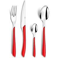 Amefa Red 24 Piece Cutlery Set