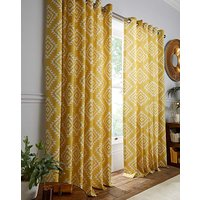 Aztec Lined Eyelet Curtains