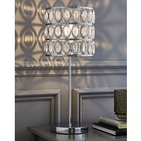Asha Table Lamp with Clear Beads