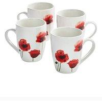 Poppy Set Of 4 Mugs