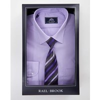 Rael Brook Lilac L/S Shirt And Tie Set R