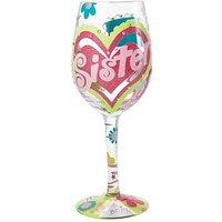 Image of Lolita Sister My BFF Wine Glass