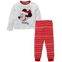 Mickey Mouse Christmas Fleece Pyjamas.