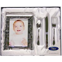 Christening Frame and Cutlery Gift Set