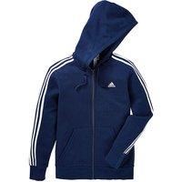 Adidas Navy Essential Full Zip Hoodie