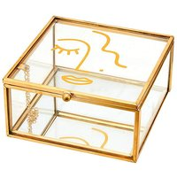 Abstract Face Glass Jewellery Box.