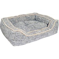 Luxury Slate and Oatmeal Square Dog Bed.