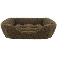 Green Pile Fleece Square Bed - S.