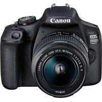 Canon EOS 2000D SLR Black Camera.