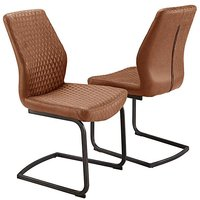Houston Pair of Cantilever Dining Chairs.