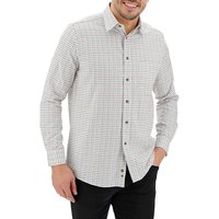 Double Two Brushed Cotton Check Shirt