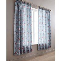 Anna Faux Silk Pencil Pleat Curtains