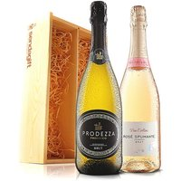 Virgin Wines Prosecco + Ros Fizz gift