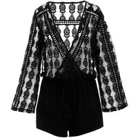 Figleaves Curve Embroidered Playsuit