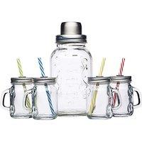 BarCraft Cocktail Shaker & Mini Jars
