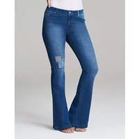 Eve Patched Bootcut Jeans - Reg
