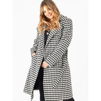 Lovedrobe GB Houndstooth Tailored Coat