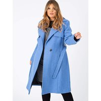 Lovedrobe GB Blue Tailored Trench Coat