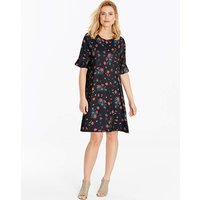 Frill Jersey Swing Dress