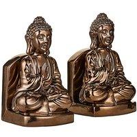'Bronze Buddha Book Ends