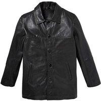 WandB Black Leather Car Coat R