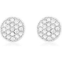 9Ct Gold Diamond Round Earrings