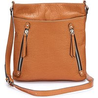 Tan Slouch Messenger Bag