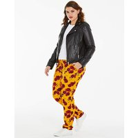 Floral Print Tapered Harem Trousers