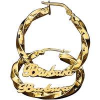 9ct Personalised Hollow Hoop Earrings