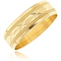 9ct Sealed with a Kiss Wedding Band.