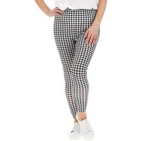 Gingham Print Jersey Leggings