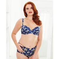 Splendour Balcony Wired Paisly Print Bra