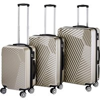 Moulded Set of 3 ABS Suitcases