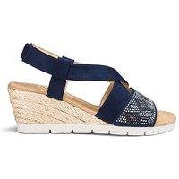 Diamante Detail Wedge Sandals EEE Fit