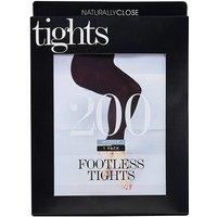 200 Denier Footless Opaque Tights