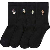 4 Pack Disney Princess Cotton Rich Socks