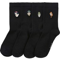 4 Pack Disney Princess Cotton Rich Socks