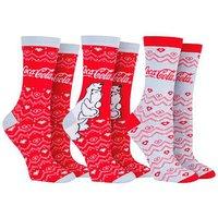 3 Pack Coca Cola Christmas Socks