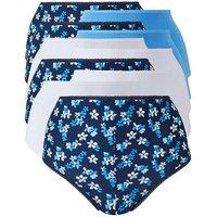 10pack Blue Floral Full Fit Briefs