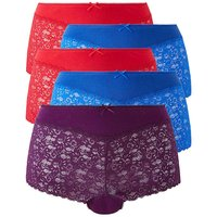 5 Pack Lace Red/blue/ Purple Midi Shorts