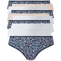 10 Pack Leaf Print Bikini Briefs