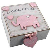 Image of Petit Cheri Pink Elephant Keepsake Box