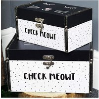 Image of Set of Two Cat Storage Boxes