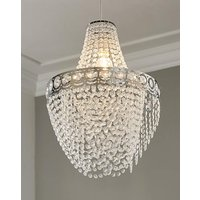 Clear Easy Fit Chandelier Shade.