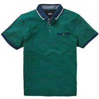 Trim Detail Green Stripe Polo L